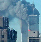 Towers Burning on 911